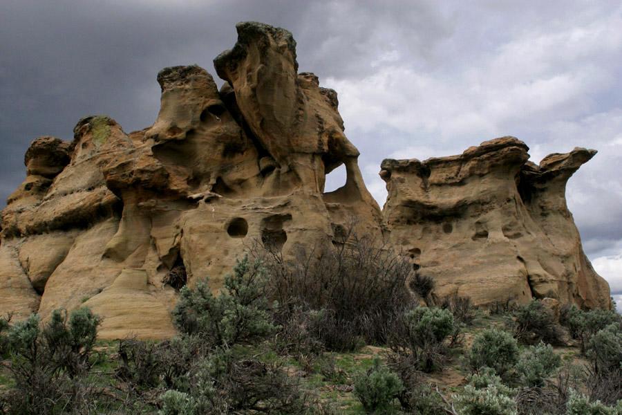 Near La Jara Canyon, a broad, open wash in the Jicarilla Apache Indian ...